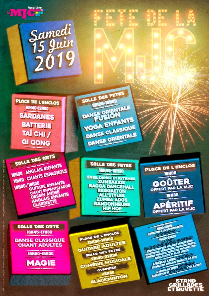 Poster Fête de la MJC Escalquens 15-16 Juine 2019